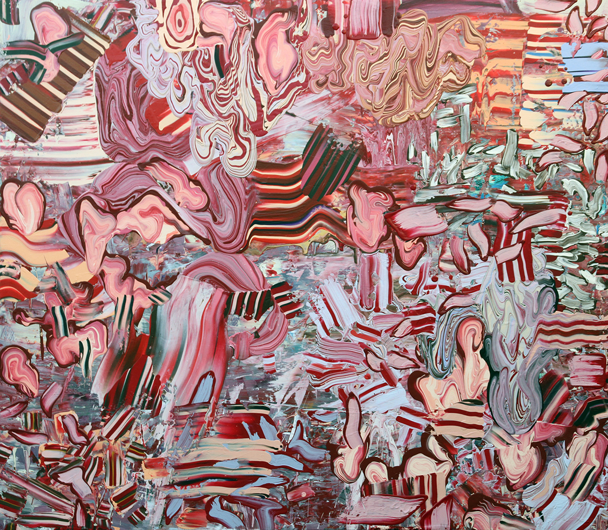 残红 Red Remnant  恩里克·奥利维拉 Henrique Oliveira  布面丙烯 Acrylic on canvas  200×230cm 2011 .jpg